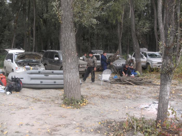 разбиваем лагерь