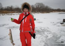 Мы с  супругой на рыбалке