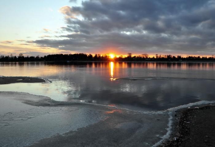 Морозный вечерок 7 ноября.