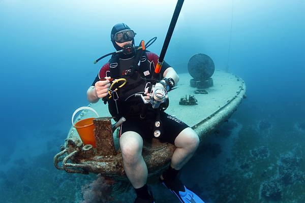 Подводный спининг)