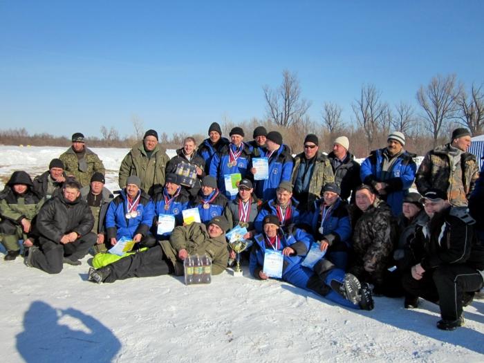 Участники и призеры чемпионата ТО по ловле на мормышку.