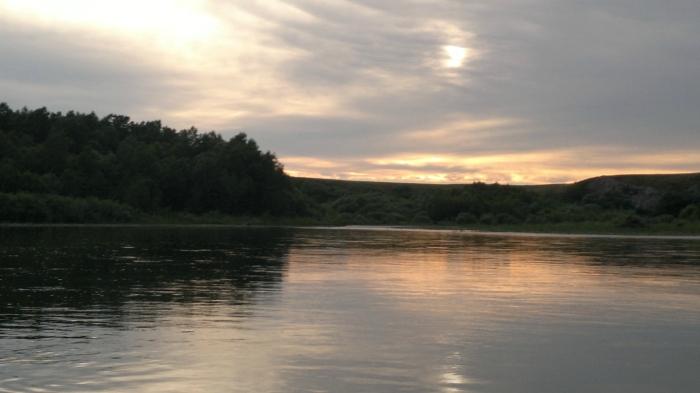 Закат на реке Чарыш