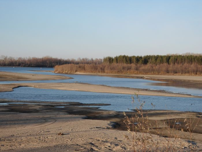 Осень, протока, район Белоярки.
