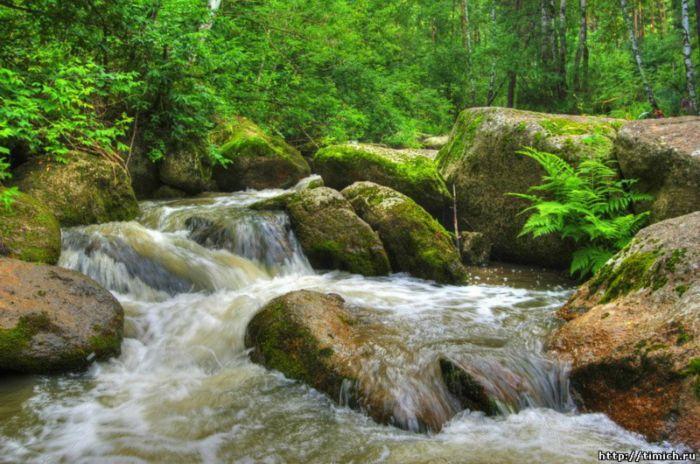 Река Белокуриха берет начало на северных склонах горы Синюха