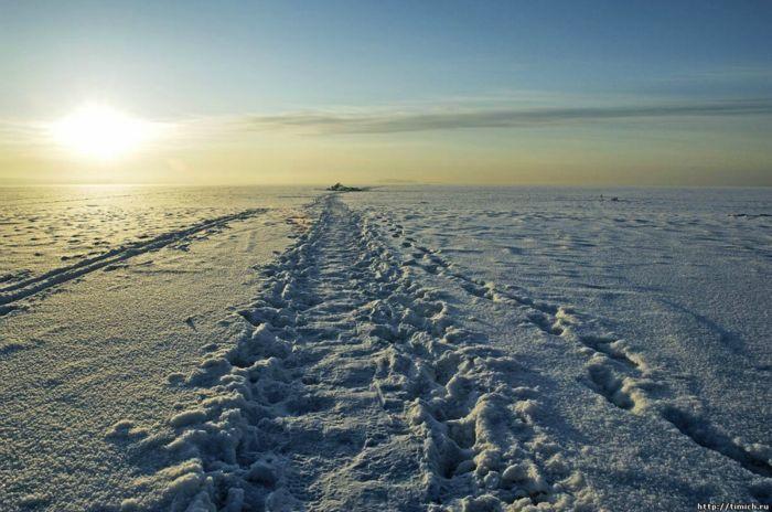 Зимняя дорога на остров Тань-Вань