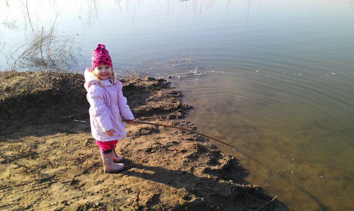 я сказал Ей, что так я ловлю рыбу...