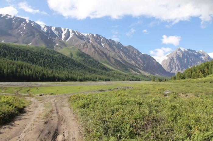 Горный Алтай - долина реки Актру