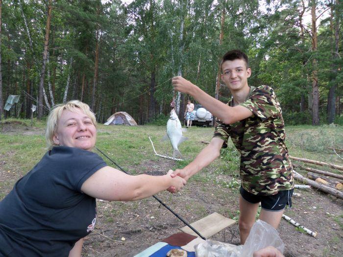 Первый подлещик за рыбалку