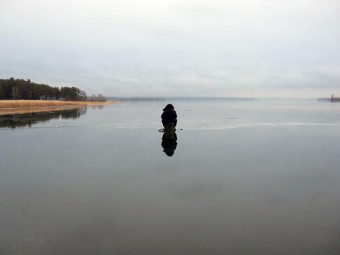 Бердский залив. Перволедье. Одиночество.