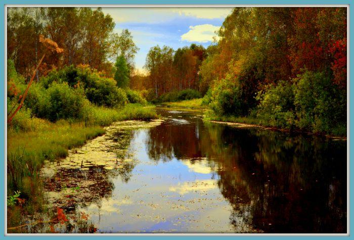ОСЕНЬ на речке Амба.