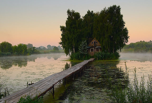Дом - мечта рыбака!!!