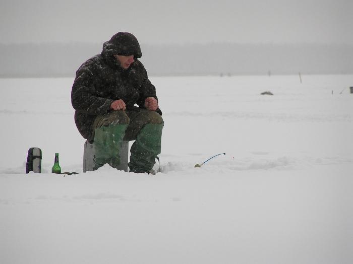 Рыбалка после  новогодних праздников.