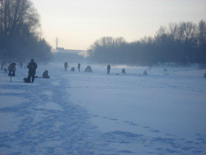 Утренний морозец на канале ТЭЦ