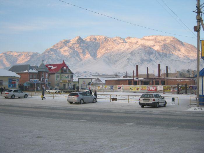 Горный Алтай зимой. Село Онгудай