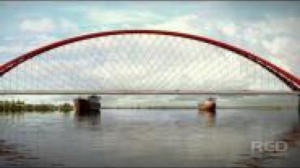 Оловозаводской мост в Новосибирске