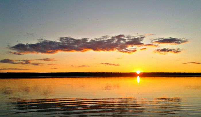 Закат на Братском водохранилище!