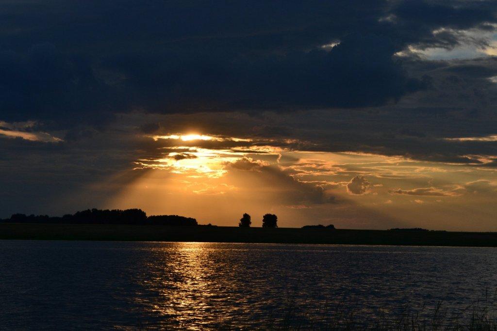 """закат .... остров """"комаринный"""""""