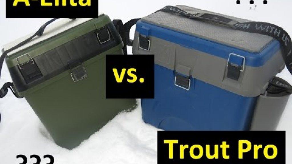 Кто кого? Сравнение зимних ящиков A-Elita и Trout Pro.