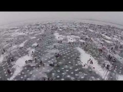 Largest charitable Ice fishing contest in the world.  Minnesota