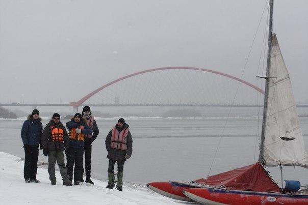 сезон 2015 открыт, на фоне бугринского моста