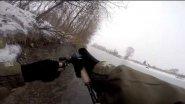 Зимой на спиннинг на реке Томь....