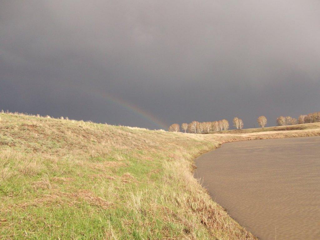 Первая весенняя радуга на реке Тарсьма. На конкурс