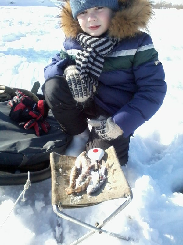Первый улов в зимнее время
