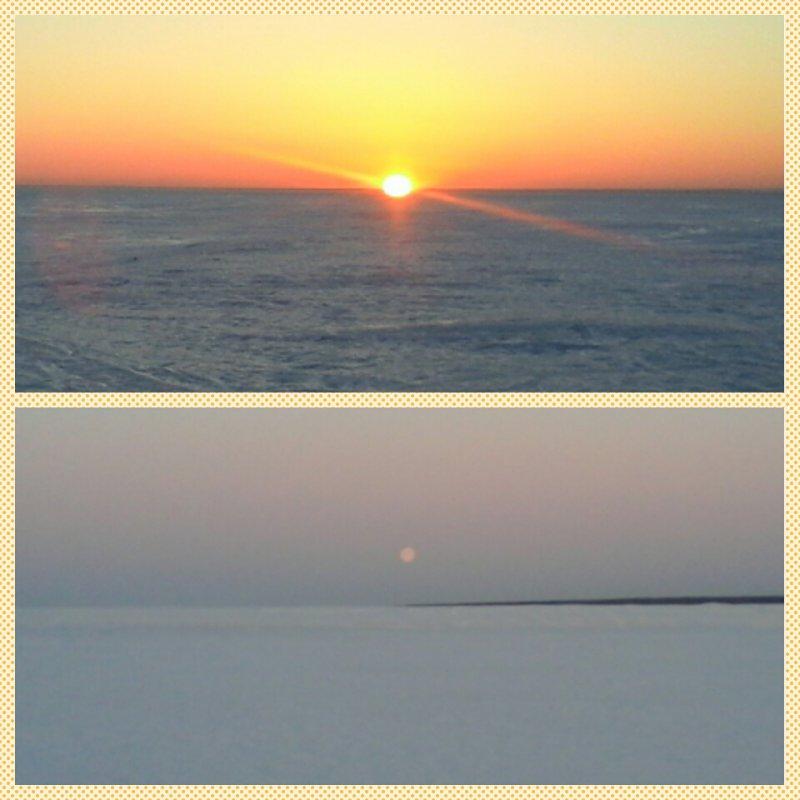 Одно время,два взгляда:рассвет-закат.