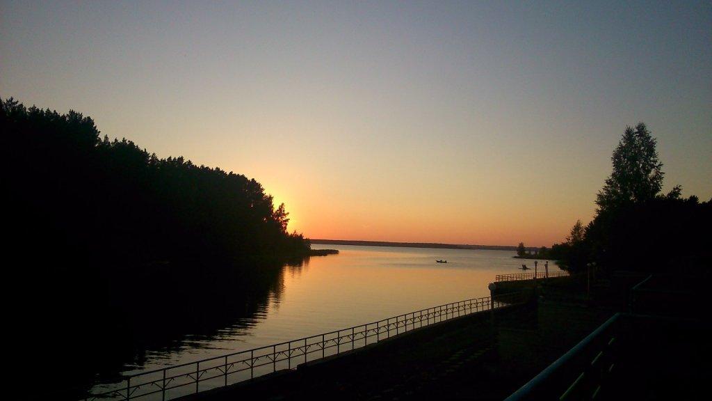 Закат на ОВХ устье р.Ельцовка