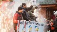 Соревнования по ловле форели на озере Михайлына Kiev Trout Cup 2015