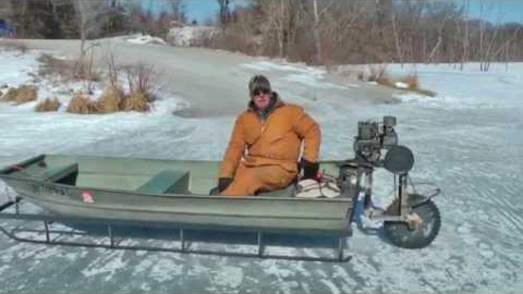 Зимняя лодка
