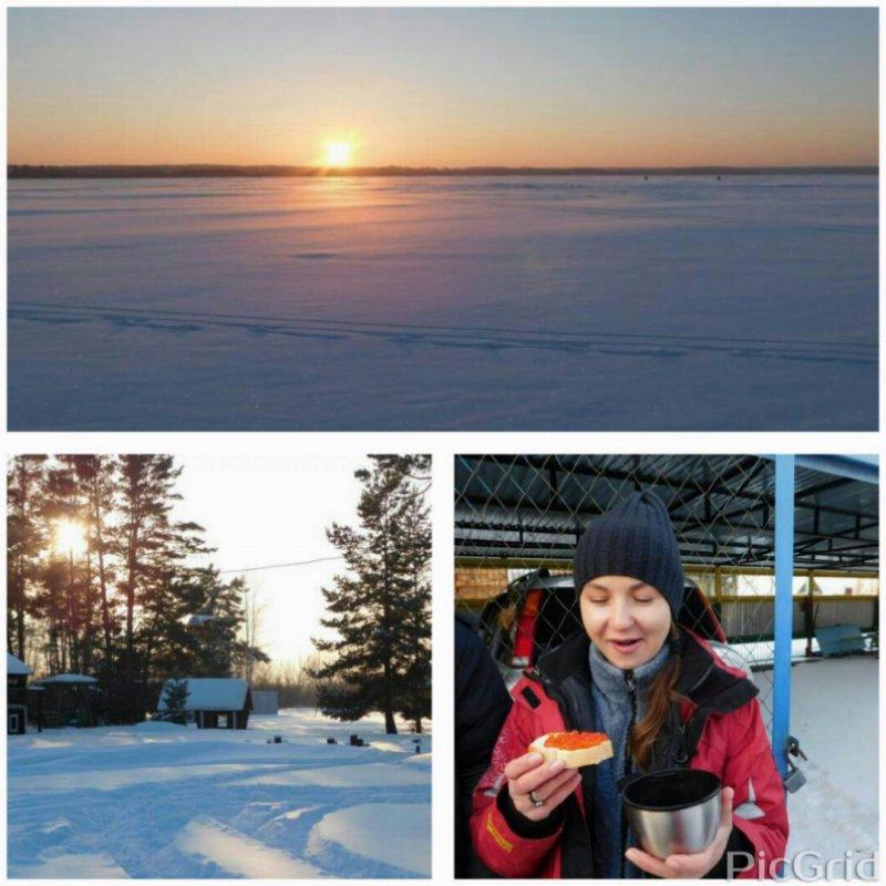 Рождественское утро на Горьком озере