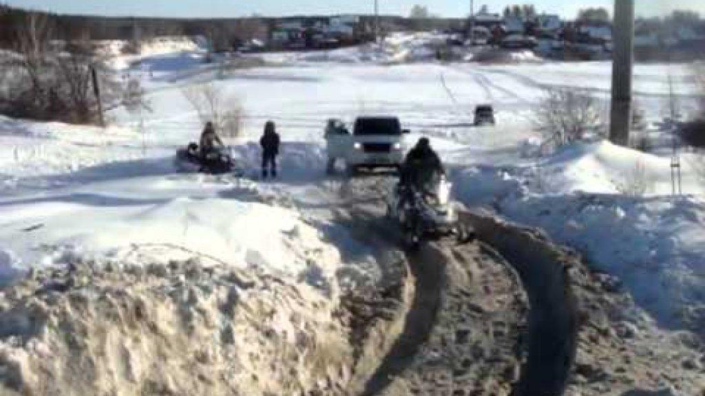 Уаз патриот,выезд с рыбалки.32 километр новосибирск