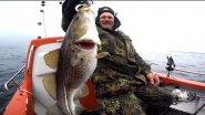Рыбалка в Германии 37 Морская рыбалка  Ловля апрельской селёдки и трески под Килем Laboe