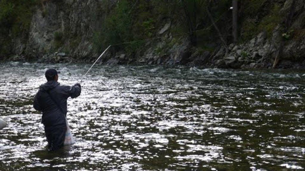 Небольшой видеоотчет о рыбалке на одной из многочисленных рек Красноярского края летом 2015г.