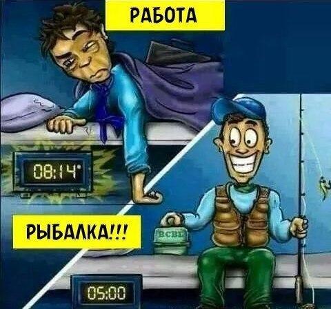 Работа или рыбалка