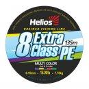 Шнур Helios Extra Class PE 8 Braid Multicolor 0.15