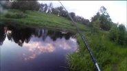 Рыбалка на малой реке! Зубастая красавица на воблер  минноу!