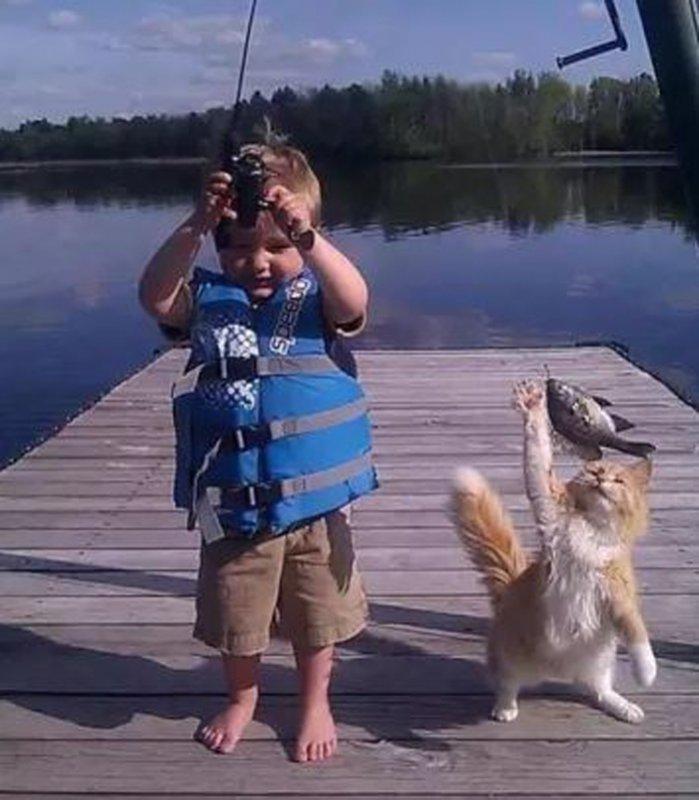 Настоящие рыбаки!