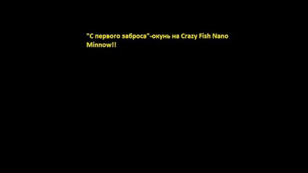 """""""С первого заброса""""-окунь на Crazy Fish Nano Minnow!"""