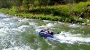 река Песчаная/ Алтайский край/водометная лодка Выдра 430