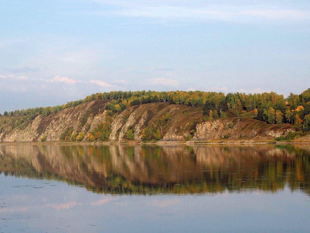 Река Томь. Вид из деревни Кирово.