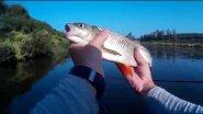 Двойной спиннинг =) сплавная рыбалка с друзьями.