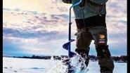 Рыбак и ледобур. Угарная рыбалка!