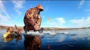 Ловля щуки зимой на жерлицы.Аэросъемка.