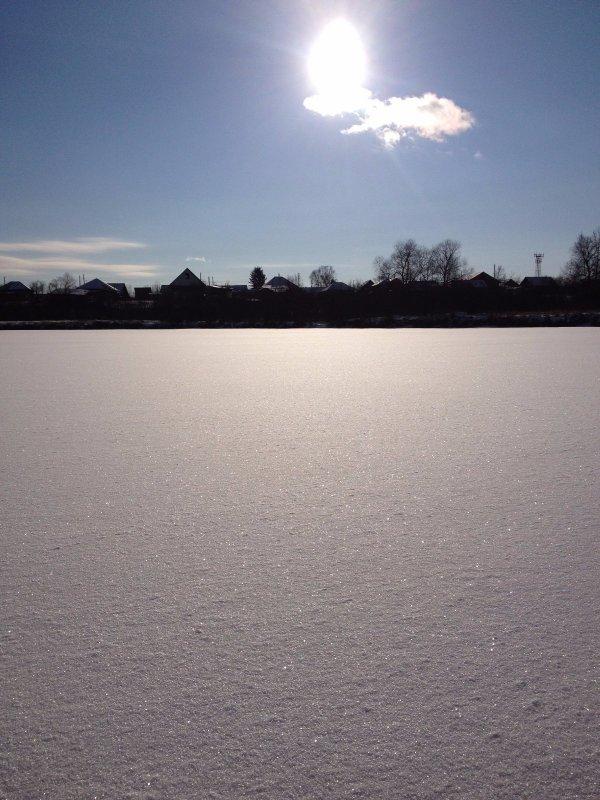 Озеро возле дома