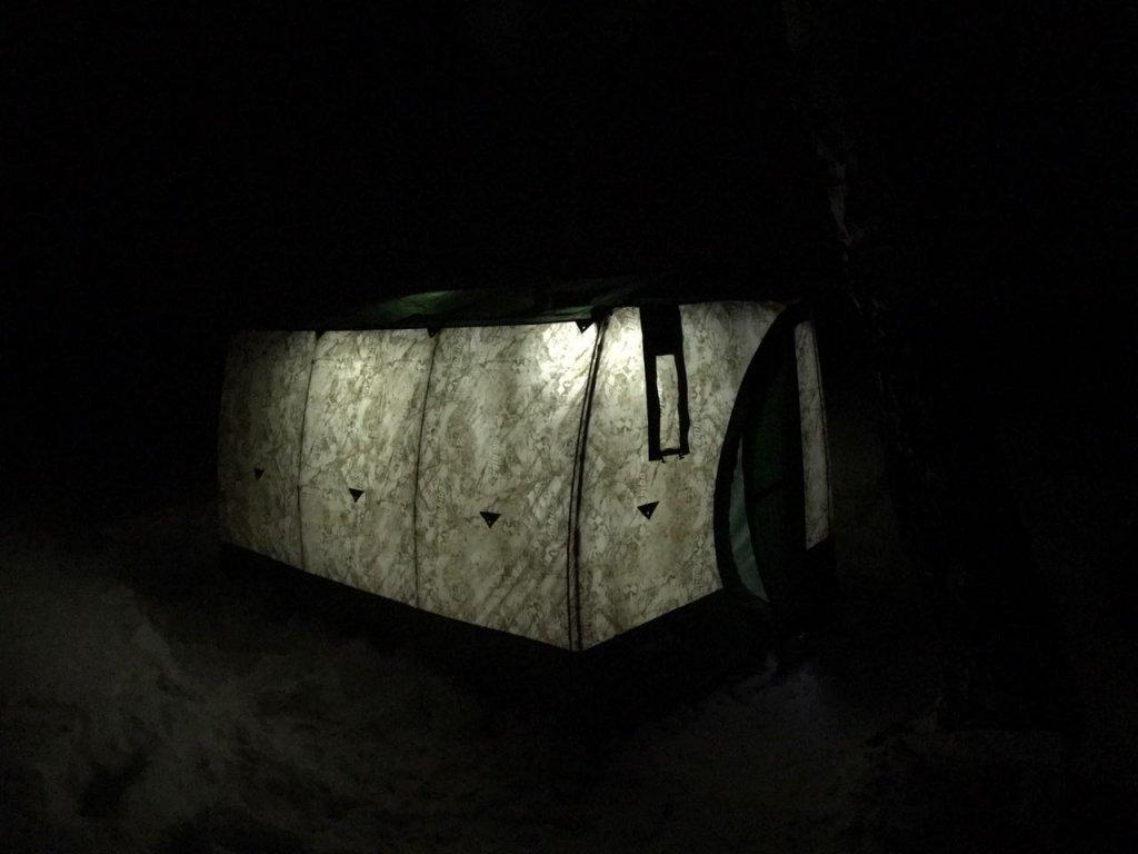ОВХ. Ночь. Палатка. Мороз