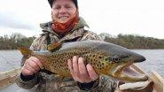 Форель,большая форель.Форель на Рудру.Lough Corrib big brown trout