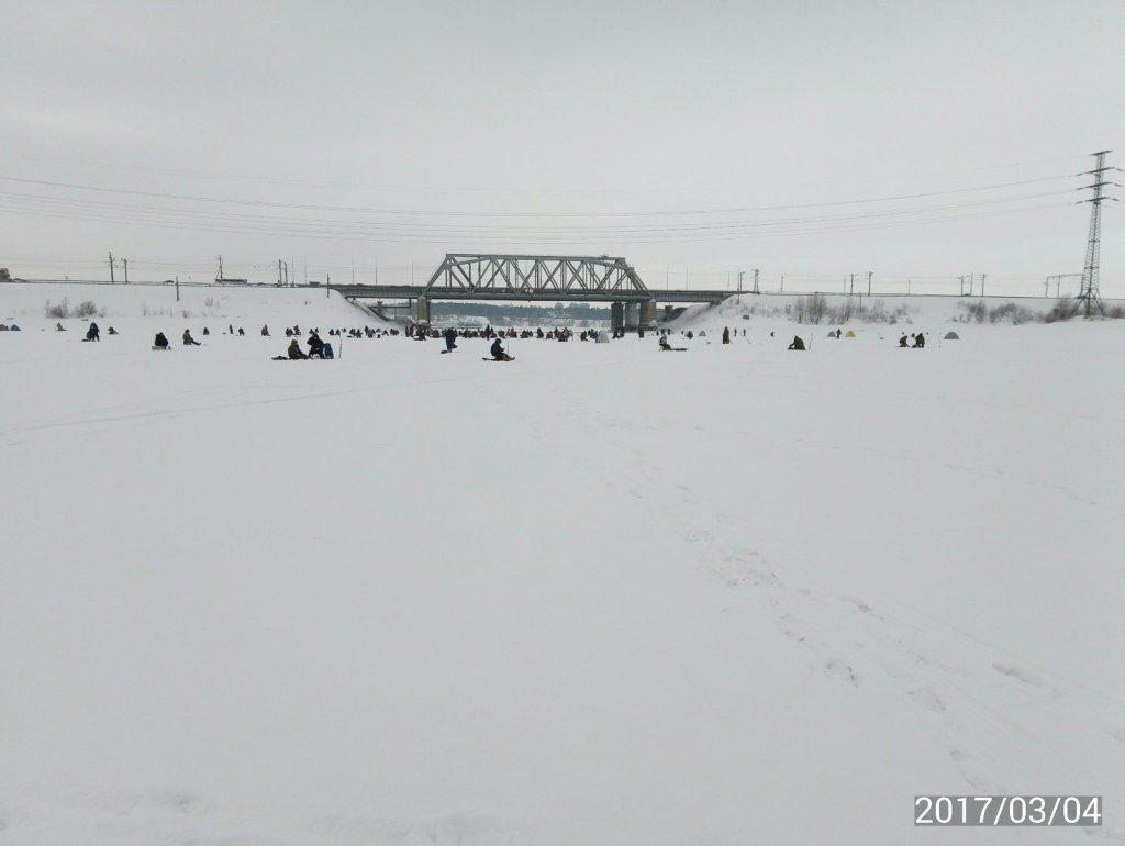 у Бердского моста.