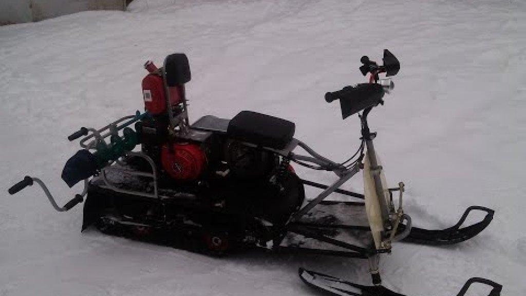 Как закрепить ледобур на мотобуксировщике, снегоходе…